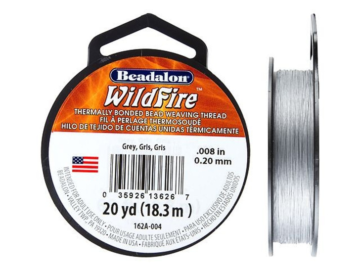 Beadalon Grey WildFire - 20 Yards, .008-Inch