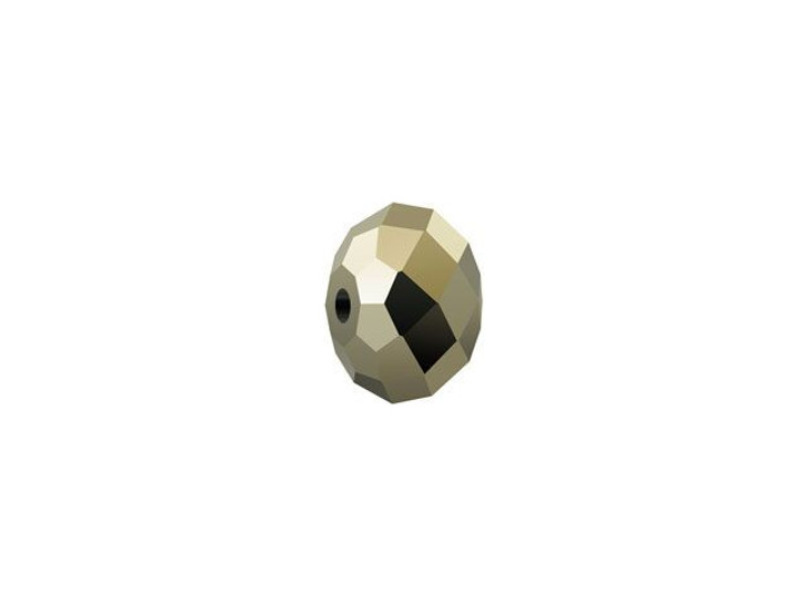Swarovski 5040 8mm Briolette Bead Crystal Metallic Light Gold 2X