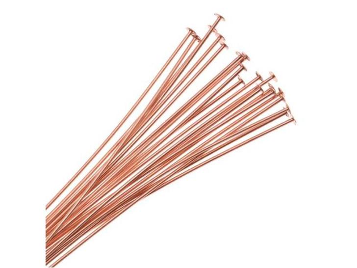 3-Inch Copper 22 Gauge Head Pin