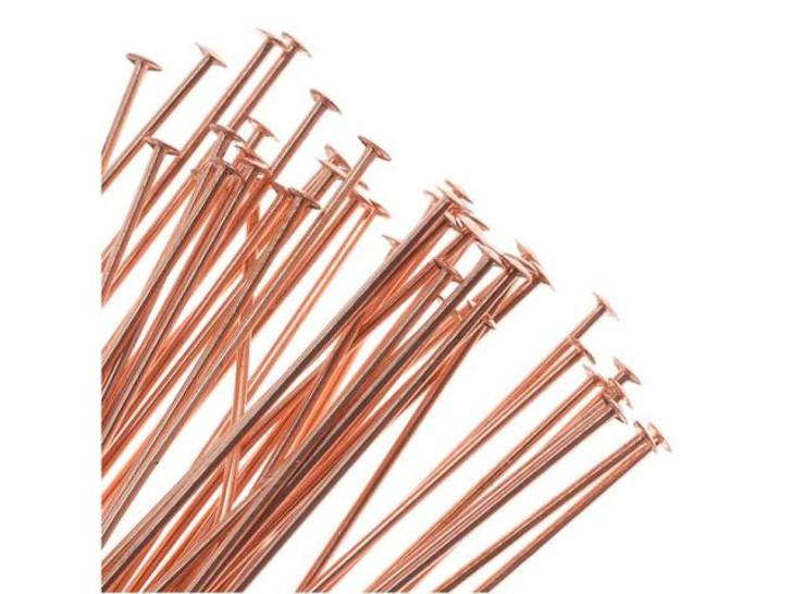 3-Inch Copper 24 Gauge Head Pin