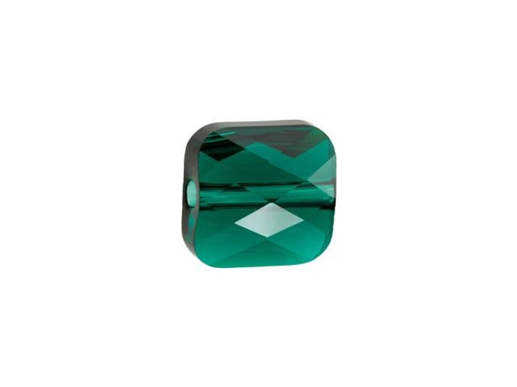 Swarovski 5053 6mm Mini Square Bead Emerald