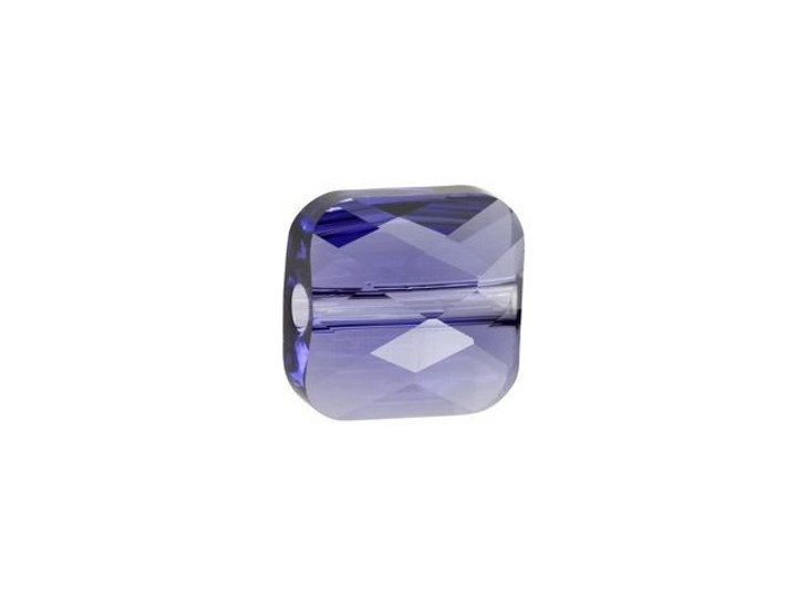 Swarovski 5053 6mm Mini Square Bead Tanzanite