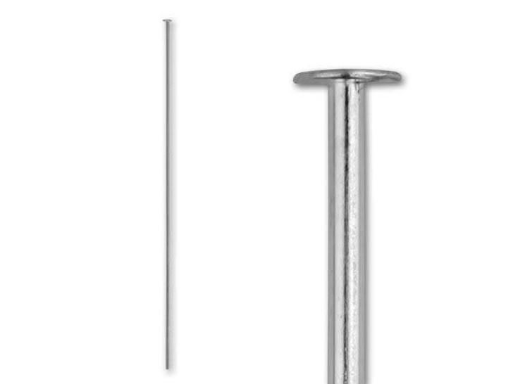 21 Gauge   Style F Headpins 3 12 Sterling Silver Headpins 10 pcs