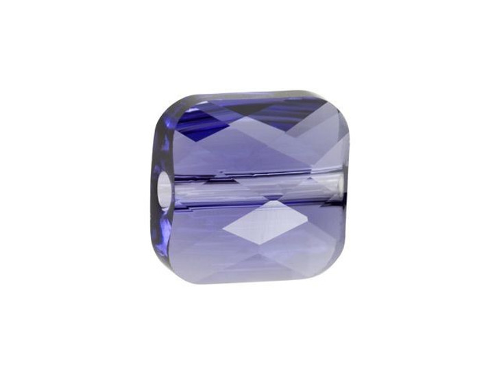 Swarovski 5053 8mm Mini Square Bead Tanzanite