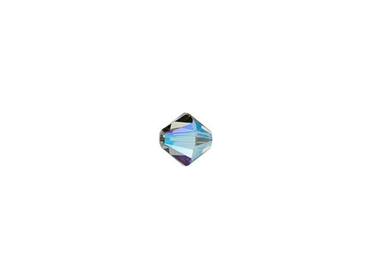 Swarovski 5328 3mm Xilion Bicone Black Diamond AB