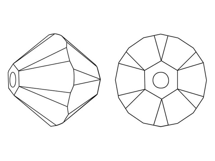 Swarovski 5328 3mm XILION Bicone Crystal Silver Shade