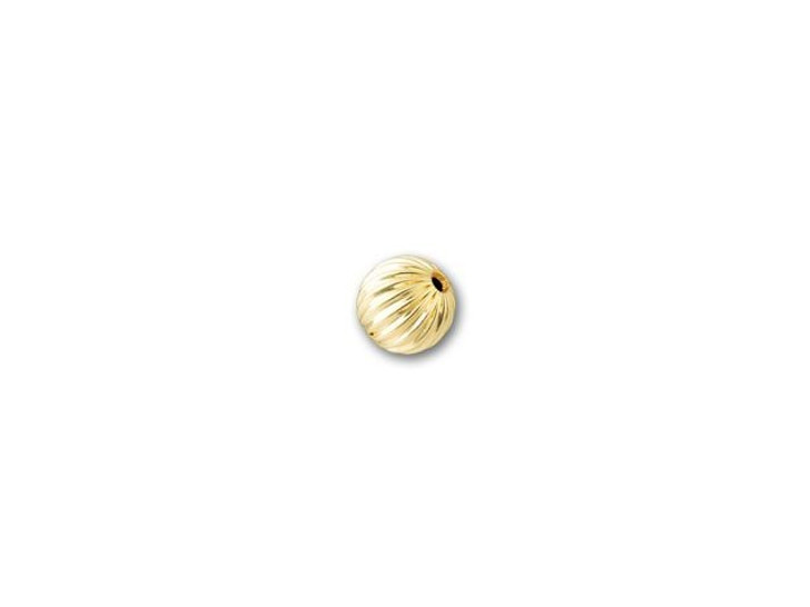 3mm Gold-Filled Round Corrugated Bead