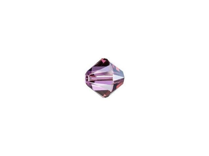 Swarovski 5328 4mm XILION Bicone Crystal Lilac Shadow