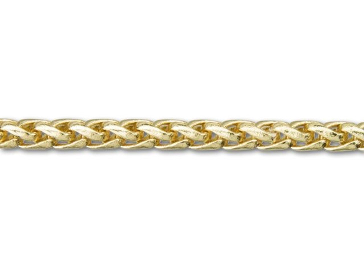 3mm Gold-Plated Wheat Chain By the Foot