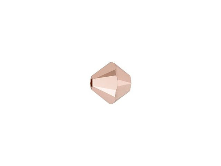 Swarovski 5328 4mm XILION Bicone Crystal Rose Gold 2x