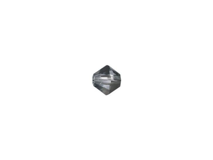 Swarovski 5328 4mm XILION Bicone Crystal Silver Night