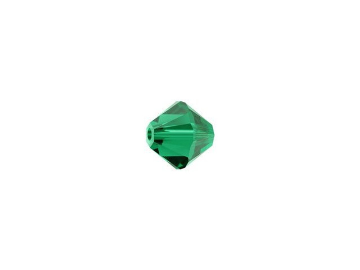 Swarovski 5328 4mm XILION Bicone Emerald