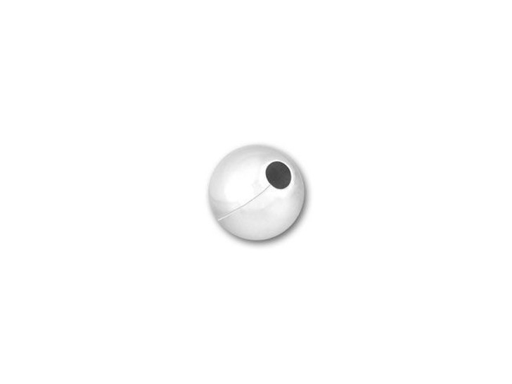3mm Seamed Round Small Hole Bead (Sterling Silver)