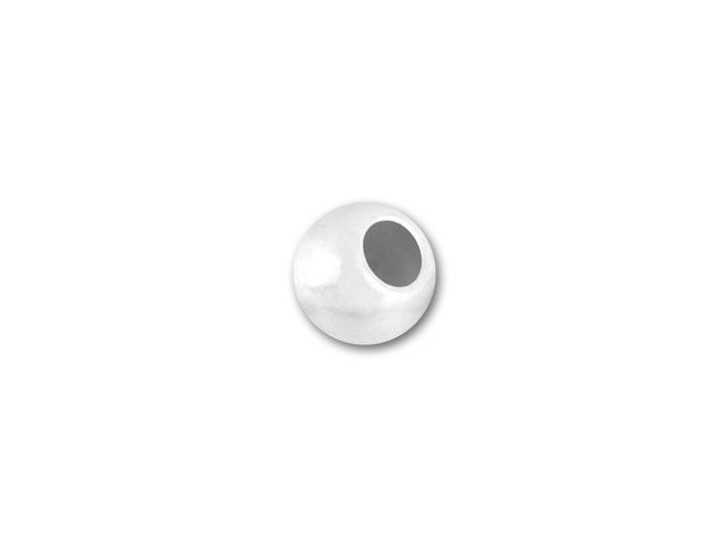 3mm Seamless Sterling Silver Round Bead (1.5mm Hole)