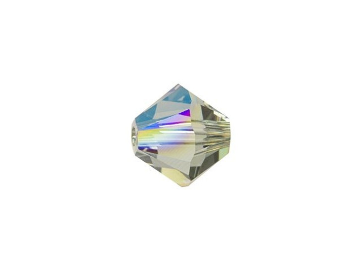 Swarovski 5328 6mm Bicone Black Diamond Shimmer