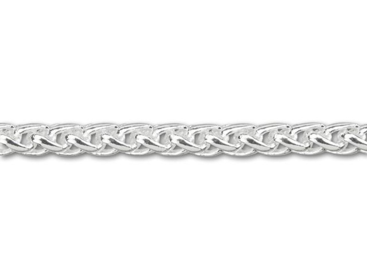 3mm Silver-Plated Wheat Chain By the Foot