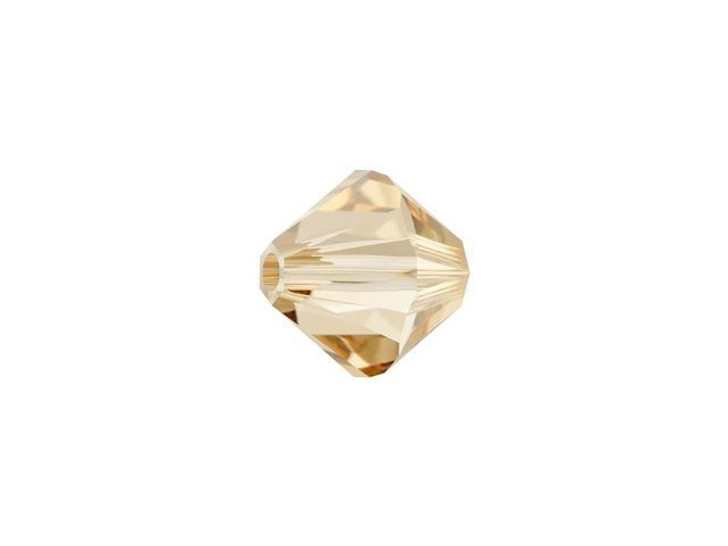 Swarovski 5328 6mm XILION Bicone Crystal Golden Shadow