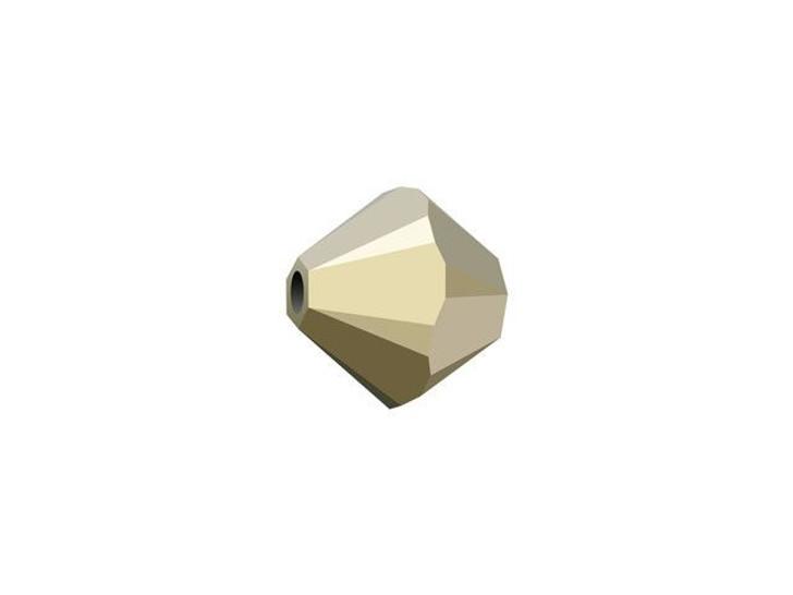 Swarovski 5328 6mm XILION Bicone Crystal Metallic Light Gold 2X