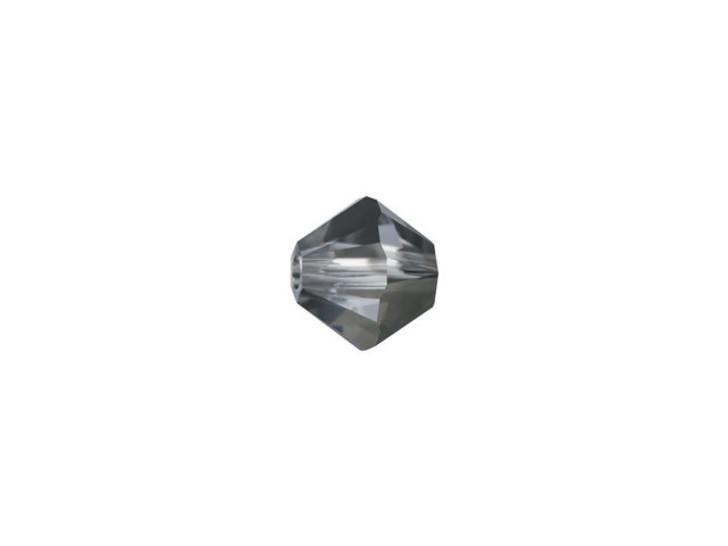 Swarovski 5328 6mm XILION Bicone Crystal Silver Night
