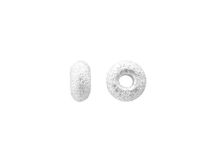 3mm Stardust (Laser Cut) Sterling Silver Roundel Bead