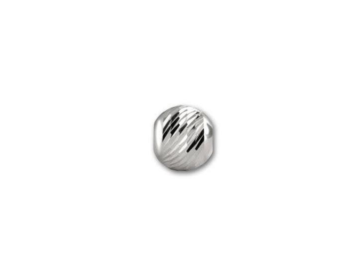 3mm Sterling Round Multi-Cut Bead