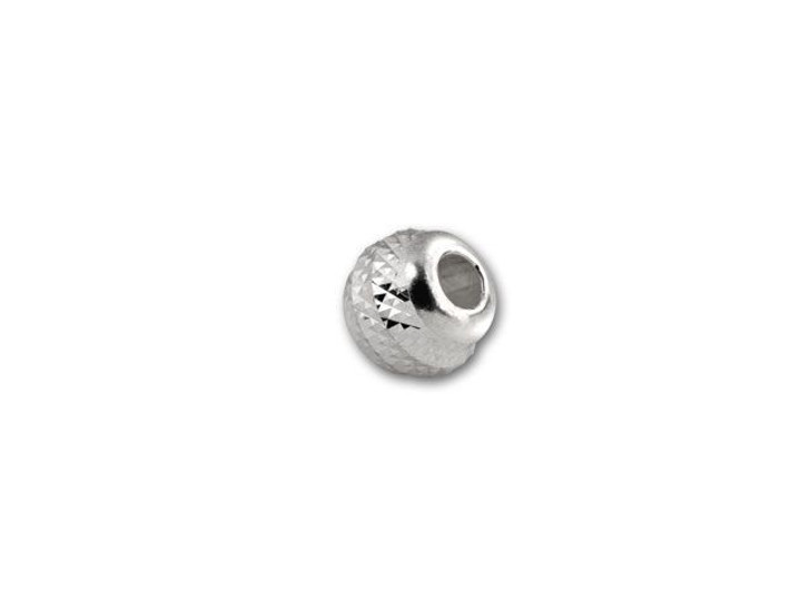 3mm Sterling Round Pyramid-Cut Bead