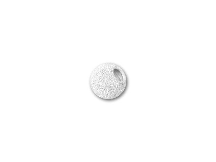3mm Sterling Silver Round Stardust Bead with 1.2mm Hole