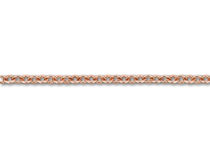 3x3.5mm Rose Gold-Plated Brass Flat Cable Chain by the Foot