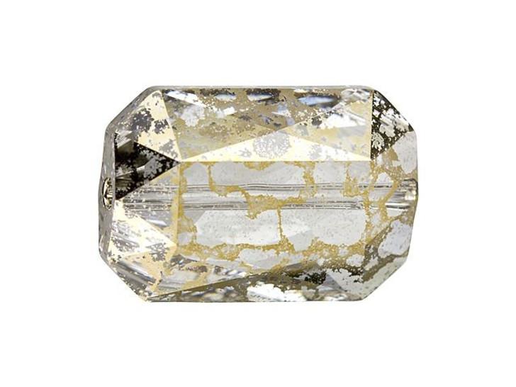 Swarovski 5515 Emerald Cut Bead 14x9.5mm Crystal Gold Patina