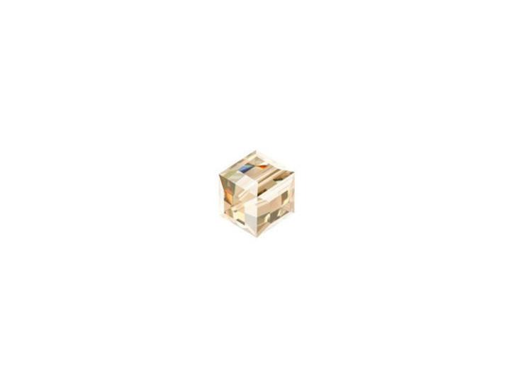 Swarovski 5601 4mm Crystal Cube Crystal Golden Shadow