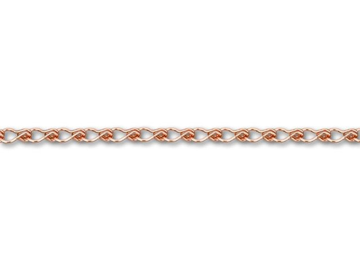 3x5mm Rose Gold-Plated Brass Ladder Chain by the Foot