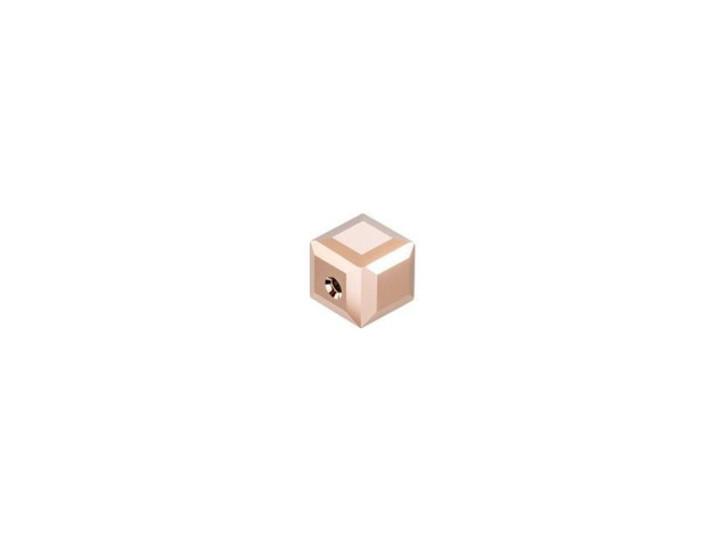 Swarovski 5601 4mm Faceted Cube Crystal Rose Gold