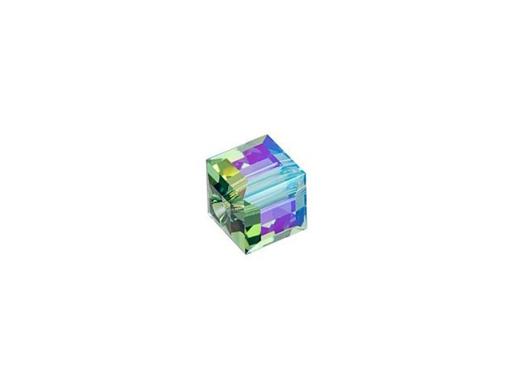 Swarovski 5601 4mm Faceted Cube Erinite Shimmer B