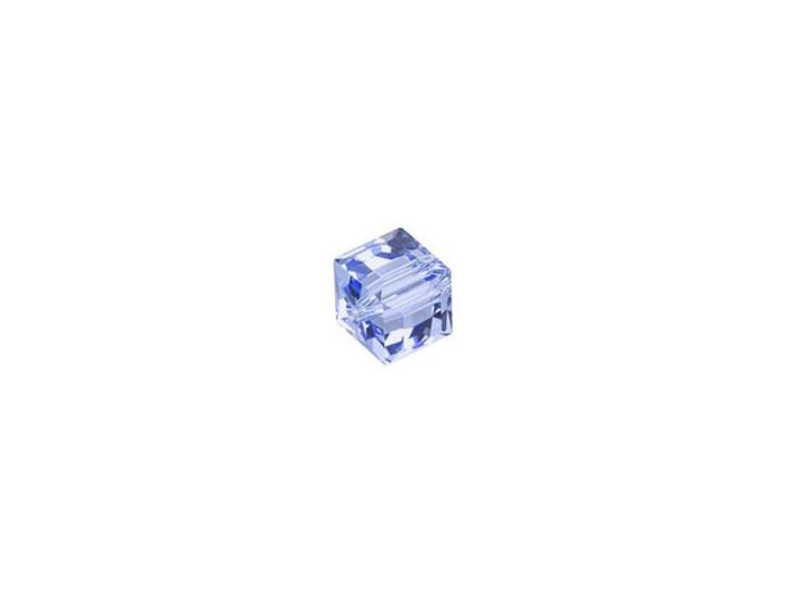 Swarovski 5601 4mm Faceted Cube Light Sapphire
