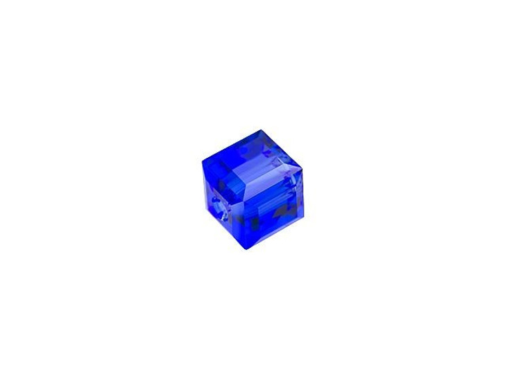 Swarovski 5601 4mm Faceted Cube Majestic Blue
