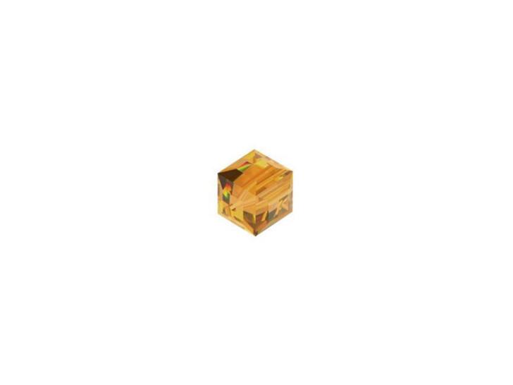 Swarovski 5601 4mm Faceted Cube Topaz