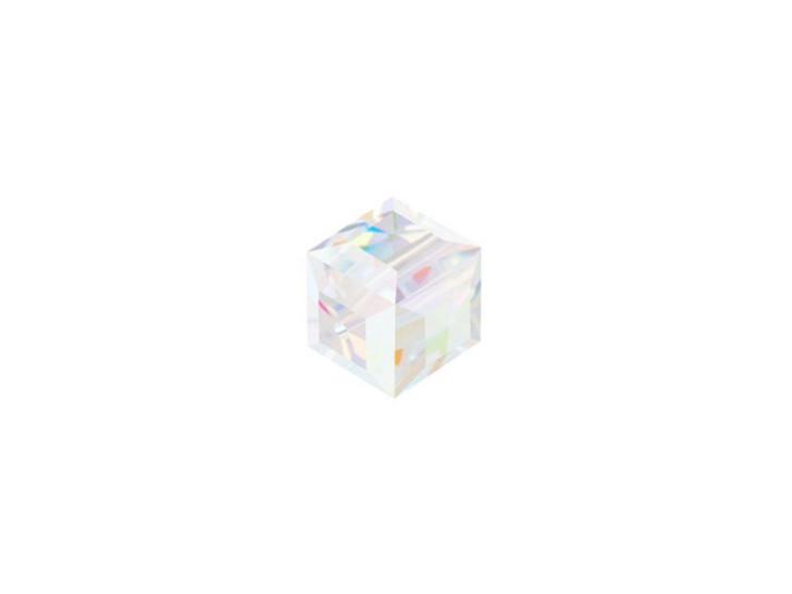 Swarovski 5601 6mm Crystal Cube Crystal AB