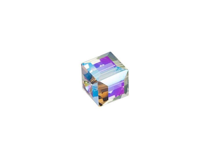 Swarovski 5601 6mm Faceted Cube Black Diamond Shimmer B