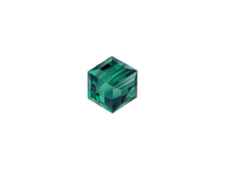 Swarovski 5601 6mm Faceted Cube Emerald