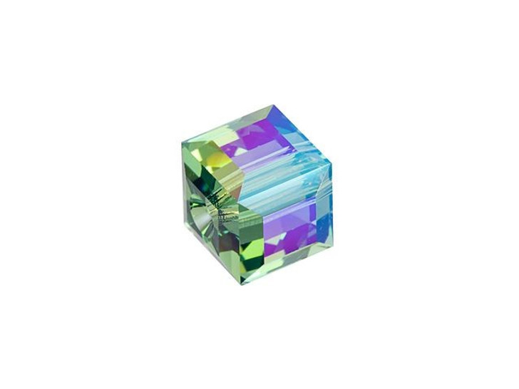 Swarovski 5601 6mm Faceted Cube Erinite Shimmer B