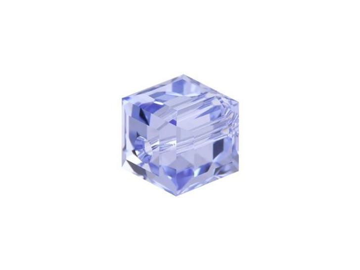 Swarovski 5601 6mm Faceted Cube Provence Lavender