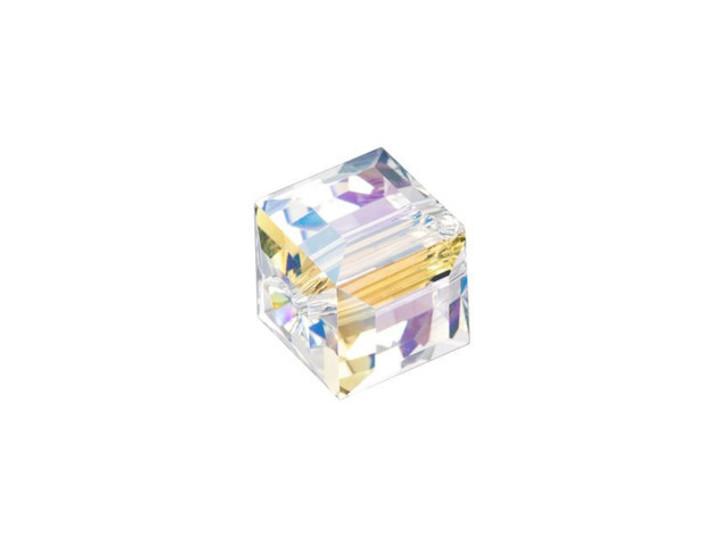 Swarovski 5601 8mm Faceted Cube Crystal Shimmer B