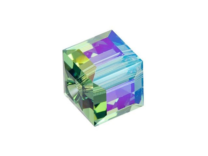 Swarovski 5601 8mm Faceted Cube Erinite Shimmer B