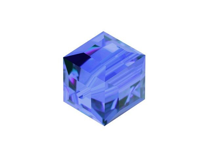 Swarovski 5601 8mm Faceted Cube Sapphire