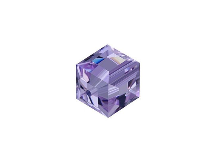 Swarovski 5601 8mm Faceted Cube Tanzanite