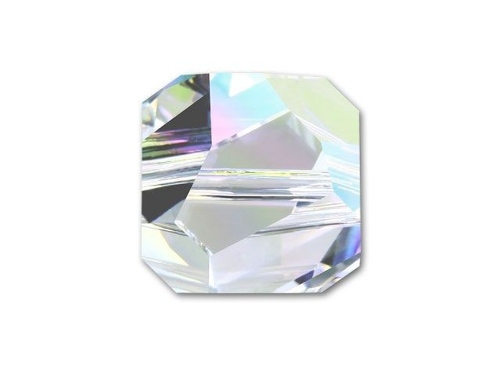 Swarovski 5603 8mm Graphic Cube Crystal AB
