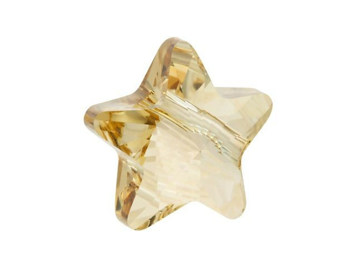Swarovski 5714 12mm Star Bead Crystal Golden Shadow