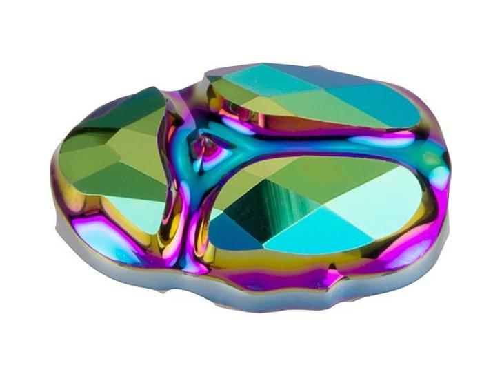 Swarovski 5728 12mm Scarab Bead Crystal Scarabaeus Green