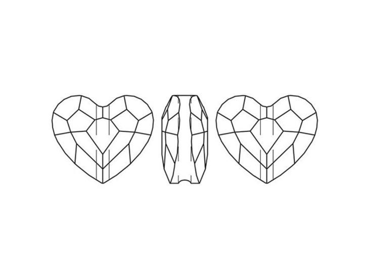 Swarovski 5741 Love Bead 12mm Crystal