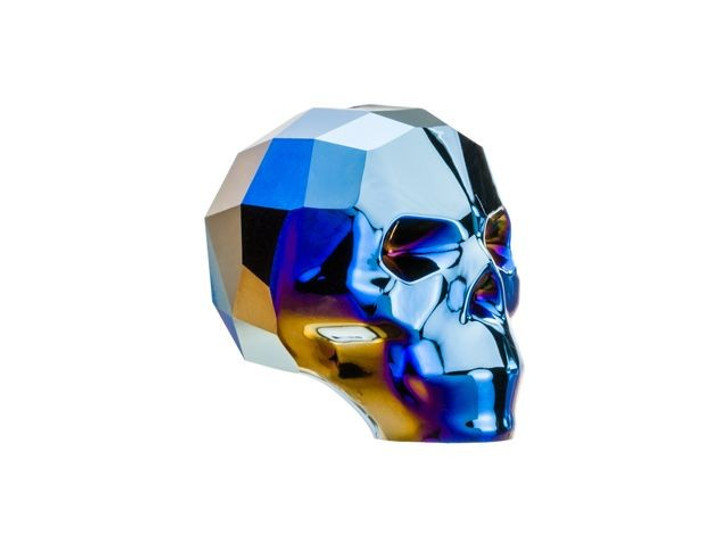 Swarovski 5750 13mm Skull Bead Crystal Metallic Blue 2X